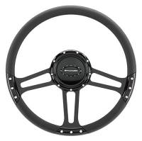 "Billet Specialties - Billet Specialties 14"" Dra Ft. Steering Wheel Black Half Wrap"