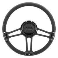 "Billet Specialties Steering Wheels - Billet Specialties Select Edition Steering Wheels - Billet Specialties - Billet Specialties 14"" Dra Ft. Steering Wheel Black Half Wrap"