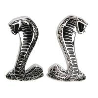 Street & Truck Accessories - Emblems - Ford Racing - Ford Racing Cobra Snake Fender Emblems (Pair)