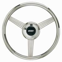 "Street Performance / Tuner Steering Wheels - Grant Banjo Style Steering Wheels - Grant Steering Wheels - Grant Banjo Steering Wheel - 14 3/4"" - Polished"