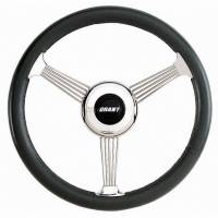 "Street Performance / Tuner Steering Wheels - Grant Banjo Style Steering Wheels - Grant Steering Wheels - Grant Banjo Style Steering Wheel - 14 3/4"" - Black"