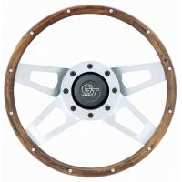 "Cockpit & Interior - Grant Steering Wheels - Grant Challenger Series Steering Wheel - 13 1/2"" - Walnut / White"