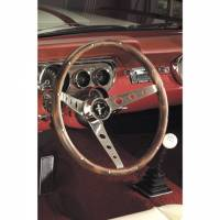 "Street Performance / Tuner Steering Wheels - Grant Classic Steering Wheels - Grant Steering Wheels - Grant Classic Nostalgia Mustang Steering Wheel - 15"" - Walnut"