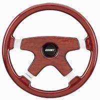 """Street Performance / Tuner Steering Wheels - Grant Elegante Steering Wheels - Grant Steering Wheels - Grant Elegante Steering Wheel - 14"""" - Mahogany"""