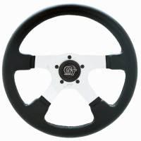 """Street Performance / Tuner Steering Wheels - Grant GT Steering Wheels - Grant Steering Wheels - Grant GT Rally Steering Wheel - 14"""" - Black / White"""