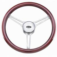 "Street Performance / Tuner Steering Wheels - Grant Heritage Series Steering Wheels - Grant Steering Wheels - Grant Heritage Sprint 3 Steering Wheel - 14 3/4"" - Mahogany"