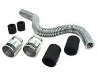 Cooling & Heating - Spectre Performance - Spectre Magna-Kool Stainless Steel Radiator Hose Kit - Includes 24 in. Hose/Two 1.75 in. Rubber Sleeves/4 Reducer Inserts/4 Hose Clamps/2 Chrome Covers