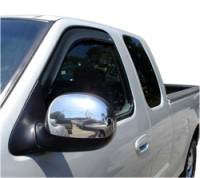 Ford F-250 / F-350 Exterior Components - Ford F-250 / F-350 Side Window Visors - Auto Ventshade - Auto Ventshade Ventvisor In-Channel Deflector - 2 Piece - Smoke