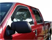 Ford F-250 / F-350 Exterior Components - Ford F-250 / F-350 Side Window Visors - Auto Ventshade - Auto Ventshade Ventvisor In-Channel Deflector - 4 Piece - Smoke