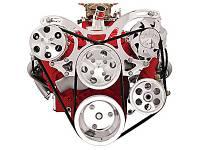 Pulley Kits - V-Belt Pulley Kits - Billet Specialties - Billet Specialties V-Trac Pulley System - SB Chevy