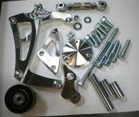 Ignition & Electrical System - March Performance - March Performance ALT-A/C Bracket SB Chevy LWP Mid Mount Polished