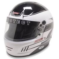 Helmets - Kart Racing Helmets - Pyrotect - Pyrotect Rebel Graphic Pro Airflow Helmet - Black/White