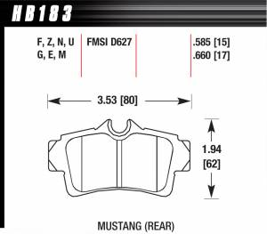 Ford Mustang (4th Gen 94-04) - Ford Mustang (4th Gen) Brakes - Ford Mustang (4th Gen) Disc Brake Pads