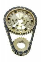 ROLLMASTER-ROMAC - Rollmaster-Romac SBC Billet Roller Adj. Timing Set w/Torr. Brg