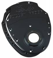Engine Components - CVR Performance Products - Cvr Performance SBC Billet Timing Cover 2-Piece - Black Anodized
