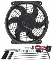 "Cooling & Heating - Derale Performance - Derale 10"" Tornado Electric Puller Fan, Premium Mounting Kit"