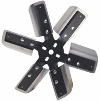 """Mechanical Cooling Fans - Steel Cooling Fans - Derale Performance - Derale 13"""" Heavy Duty Stainless Steel Standard Rotation Flex Fan, Black Hub"""
