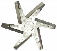 "Mechanical Cooling Fans - Flex Fans - Derale Performance - Derale 17"" High Performance Stainless Steel Reverse Rotation Flex Fan, Chrome Hub"