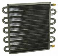 "Oil Cooler - Oil Coolers - Derale Performance - Derale 10 Pass 13"" Series 7000 Copper/Aluminum Transmission Cooler, -6AN"