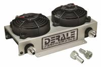 Oil Cooler - Oil Coolers - Derale Performance - Derale 19 Row Hyper-Cool Dual Cool Remote Cooler, -8AN