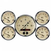 Gauges & Dash Panels - Gauge Kits - Analog - Auto Meter - Auto Meter Antique Beige Gauge Kit - w/GPS Speedometer
