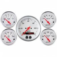 Gauge Kits - Analog Gauge Kits - Auto Meter - Auto Meter Arctic White Gauge Kit - w/GPS Speedometer