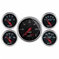 Gauges & Dash Panels - Gauge Kits - Analog - Auto Meter - Auto Meter Designer Black Gauge Kit - w/GPS Speedometer