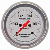 "Gauges - Digital Air / Fuel Ratio Gauges - Auto Meter - Auto Meter 2-1/16"" Ultra-Lite Wideband Air /Fuel Gauge - Analog"