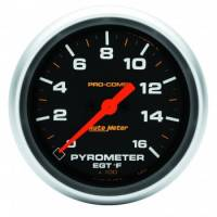 "Analog Gauges - Exhaust Gas Temperature Gauges - Auto Meter - Auto Meter 2-5/8"" Pro-Comp 0-1600 Pyrometer"