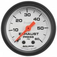 """Gauges - Exhaust Pressure Gauges - Auto Meter - Auto Meter 2-1/16"""" Exhaust Pressure Gauge - 0-60 PSI - Phantom Series"""