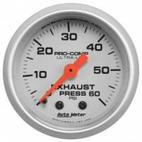 """Gauges - Exhaust Pressure Gauges - Auto Meter - Auto Meter 2-1/16"""" Exhaust Pressure Gauge - 0-60 PSI - Ultra-Lite"""