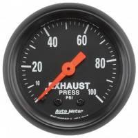 """Gauges - Exhaust Pressure Gauges - Auto Meter - Auto Meter 2-1/16"""" Exhaust Pressure Gauge - 0-100 PSI - Z-Series"""