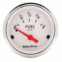 "Gauges - Fuel Level Gauges - Auto Meter - Auto Meter 2-1/16"" Artic White Fuel Gauge - 0-30 Ohms"