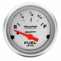 "Gauges - Fuel Level Gauges - Auto Meter - Auto Meter 2-1/16"" Ultra-Lite Fuel Level Gauge - 73-10 Ohms"