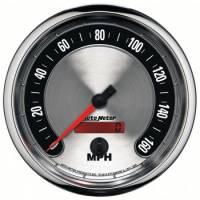 """Analog Gauges - Speedometers - Auto Meter - Auto Meter 5"""" American Muscle Speedometermeter 160 MPH"""