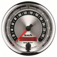 """Analog Gauges - Speedometers - Auto Meter - Auto Meter 3-3/8"""" American Muscle Speedometermeter 260 KPH"""