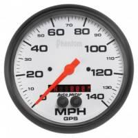 "Analog Gauges - Speedometers - Auto Meter - Auto Meter 5"" Phantom GPS Speedometer w/Rally Nav Display"