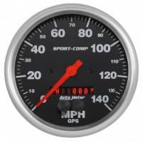 "Analog Gauges - Speedometers - Auto Meter - Auto Meter 5"" Sport Comp GPS Speedometer w/Rally Nav Display"