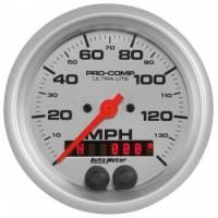 "Analog Gauges - Speedometers - Auto Meter - Auto Meter 3-3/8"" Ultra-Lite GPS Speedometer w/Rally Nav Display"