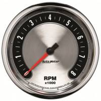 "Speedometers - Electric Speedometers - Auto Meter - Auto Meter 5"" American Muscle Tachometer 8000 RPM"