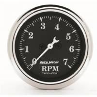 "Standard Tachometers - In-Dash Standard Tachs - Auto Meter - Auto Meter 2-1/16"" Tachometer - In-Dash - 7000 RPM - Old Tyme Black"