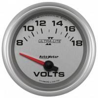 """Gauges - Voltmeters - Auto Meter - Auto Meter 2-5/8"""" Ultra-Lite II Voltmeter Gauge - 8-18 Volts"""