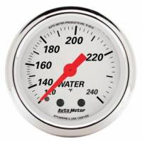 "Analog Gauges - Water Temperature Gauges - Auto Meter - Auto Meter 2-1/16"" Artic White Water Temp Gauge - 120-240°"
