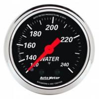 "Gauges - Water Temp Gauges - Auto Meter - Auto Meter 2-1/16"" Designer Black Water Temp Gauge - 120-240°"