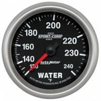 """Gauges - Water Temp Gauges - Auto Meter - Auto Meter 2-5/8"""" Sport Comp II Water Temp Gauge - 120-240°"""
