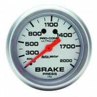 "Gauges - Brake Pressure Gauges - Auto Meter - Auto Meter Ultra-Lite Brake Pressure Gauge - 2-5/8"" - 0-2,000 PSI"