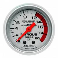 Air & Fuel System - Auto Meter - Auto Meter Ultra-Lite Mechanical Nitrous Pressure Gauge - 2-1/16 in.