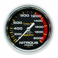 Air & Fuel System - Auto Meter - Auto Meter Carbon Fiber Mechanical Nitrous Pressure Gauge - 2-5/8 in.