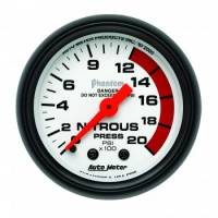 Nitrous Oxide Pressure Gauge - Mechanical Nitrous Oxide Pressure Gauges - Auto Meter - Auto Meter Phantom Mechanical Nitrous Pressure Gauge - 2-1/16 in.