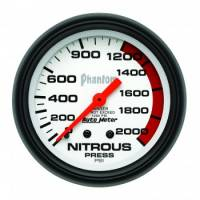 Nitrous Oxide Pressure Gauge - Mechanical Nitrous Oxide Pressure Gauges - Auto Meter - Auto Meter Phantom Mechanical Nitrous Pressure Gauge - 2-5/8 in.